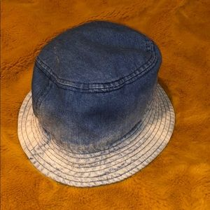 Accessories - Denim to Bleached Tone Ombré Bucket Hat